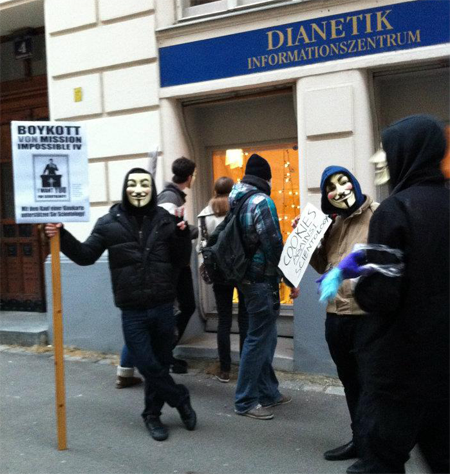 Anonymous - Demo gegen Scientology