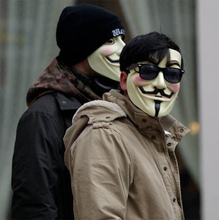 Anonymous - Demo gegen Scientology