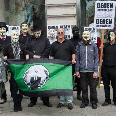 Demo gegen Scientology